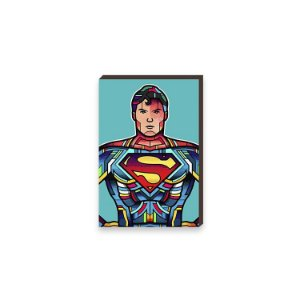 Quadro Super Homem Super Heróis DC Comics Pop Art [BoxMadeira]