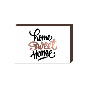 Quadro Decorativo Home Sweet Home Rose Gold [BoxMadeira]