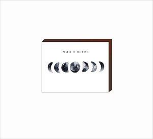 Quadro Decorativo Fases da Lua BRANCO [BoxMadeira]