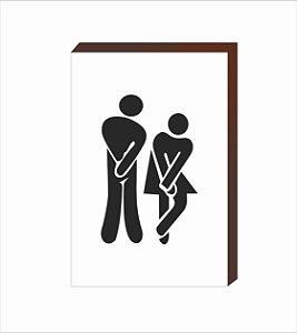 Quadro Decorativo Banheiro [BOX DE MADEIRA]