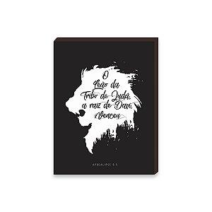 Quadro Decorativo O Leão da tribo de Judá [BoxMadeira]