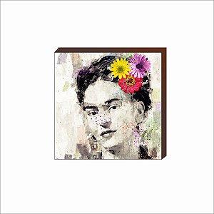 Quadro decorativo Frida Kahlo rosto [BoxMadeira]