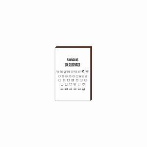 Quadro Decorativo Símbolos de cuidados [BoxMadeira]