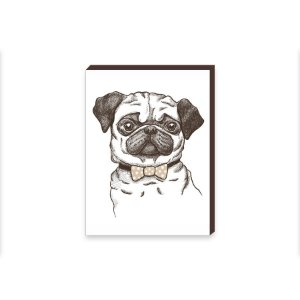 Quadro Decorativo Pug [BoxMadeira]