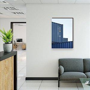 Quadro decorativo Container e Navios Comex Mod. 01 [box de Madeira]