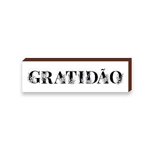 Caixinha Gratidão Florido [BOX DE MADEIRA]