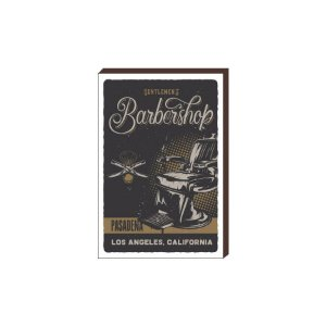 Quadro Decorativo  Barbearia Barber Shop Mod. 01 [BoxMadeira]