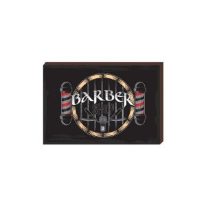 Quadro Decorativo  Barbearia Barber Shop Mod. 04 [BoxMadeira]