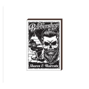 Quadro Decorativo  Barbearia Barber Shop Mod. 08 [BoxMadeira]
