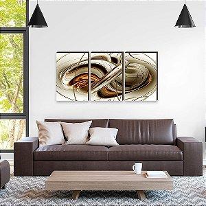 Trio de quadros Abstrato [Box de madeira]