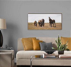 Quadro decorativo paisagem Cavalo mod 03 [BoxMadeira]