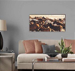 Quadro decorativo paisagem Cavalo mod 04 [BoxMadeira]