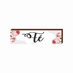Caixinha Fé Floral [BOX DE MADEIRA]