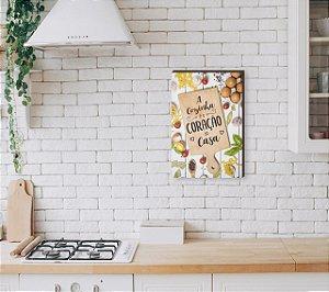 Quadro Decorativo A cozinha é o coração da casa Tábua de corte [BoxMadeira]