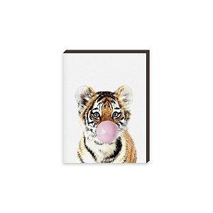 Quadro Animais Chiclete Realístico Tigre [BoxMadeira]