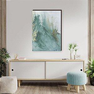 Quadro decorativo Abstrato Verde [box de Madeira]