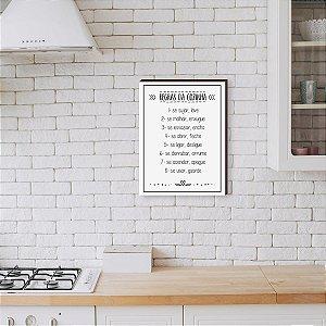 Quadro Decorativo Regras da Cozinha fundo Branco [BoxMadeira]