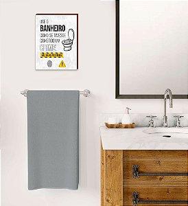 Quadro Use o banheiro Mod.02 [BOX DE MADEIRA]
