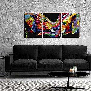 Trio Elefantes Colorido [BoxMadeira]