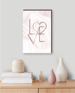 Quadro decorativo Love Rose [Box de Madeira]