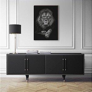 Quadro decorativo Leão Pose [BoxMadeira]