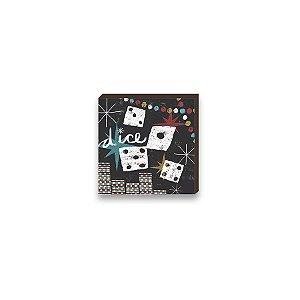 Quadro decorativo Dados- Salão de Jogos [BoxMadeira]