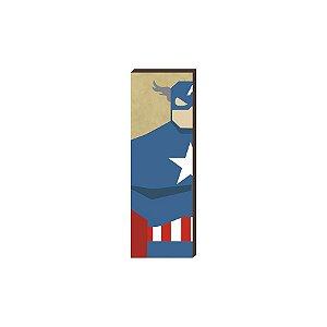 Super Heróis Marvel 20x60 - Capitão América [box de madeira]