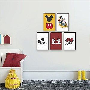 Quinteto de Quadros infantil Mickey [BoxMadeira]