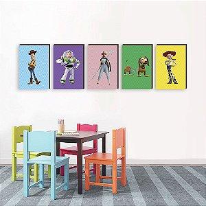 Quinteto de Quadros infantil Toy Story [BoxMadeira]