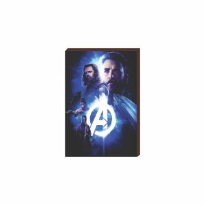Quadro decorativo Super Heróis Marvel Mod.02 [Box de Madeira]