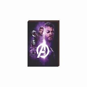 Quadro decorativo Super Heróis Marvel Mod.03 [Box de Madeira]