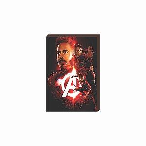 Quadro decorativo Super Heróis Marvel Mod.05 [Box de Madeira]