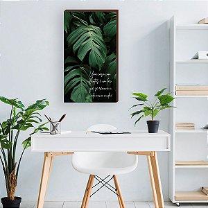 Quadro Decorativo Costela de Adão + Uma casa com plantas é um lar [BoxMadeira]