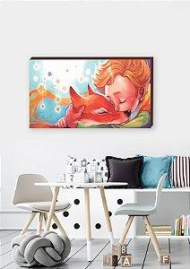 Quadro Decorativo O Pequeno Príncipe e raposa  [BoxMadeira]