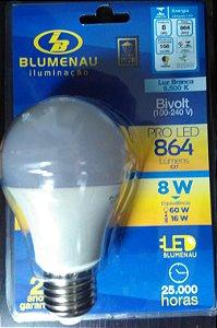 Lâmpada pro Led 8W Branca 6500K Bivolt A60.  Blumenau Iluminação