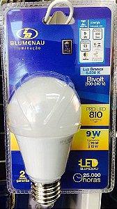 Lâmpada Led 9W Bulbo Luz Branca 6500K Bivolt A60.  Blumenau Iluminação