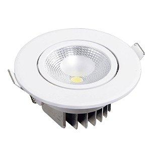 Spot Led 6w Redondo 6500k luz Branca para Embutir bivolt. Em ABS + Policarbonato - Blumenau Iluminação