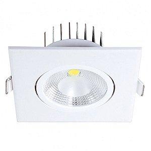 Spot Led 6w Quadrado 6500k luz Branca para Embutir bivolt. Em ABS + Policarbonato - Blumenau Iluminação