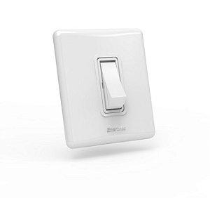 01 Interruptor simples de sobrepor com caixa padrão Branco - Linha E Enerbras