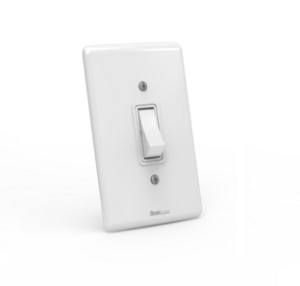 Interruptor de embutir 01 tecla paralelo Branco com parafuso aparente - Linha Artis Enerbras