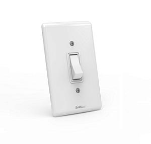 Interruptor de embutir 01 tecla simples Branco com parafuso aparente - Linha Artis Enerbras