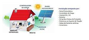 Sistema Fotovoltaico OFF Grid para instalação Comercial, Residencial e Rural
