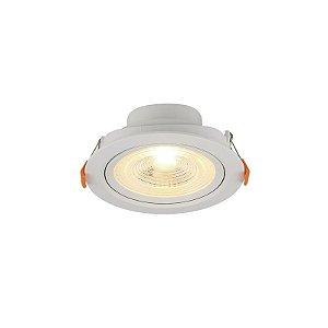 Spot Led 6w Redondo 3000k luz Amarela para Embutir bivolt. Em ABS + Policarbonato - Blumenau Iluminação