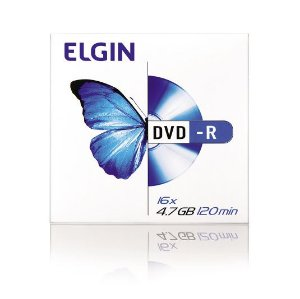 Mídia Elgin DVD-R 16 x 4.7 GB 120 min - 1 Unidade Frete Econômico