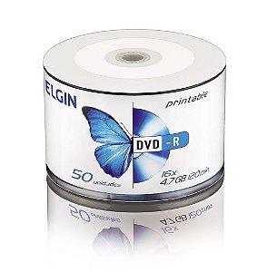 Mídia Elgin Dvd-r 16 x 4.7 GB 120 min Gravável - Bulk com 50 unidades