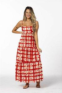 Vestido Cropped Estampado Xadrez Farm