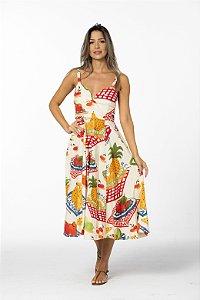 Vestido Midi Estampado Quarta-feira Farm