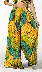 Calça  Pantalona Feminina Estampada Banana Degradê Farm