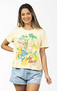 Blusa T-shirt com Estampa Fit Feito no Rio Farm