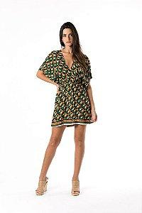 Vestido Grafico Balai Preto Farm